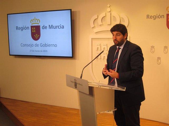 """Agua.- El Gobierno murciano muestra su """"firme defensa"""" del Tajo-Segura con motiv"""