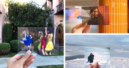 Una joven viaja por el mundo fotografiando localizaciones de película y reviviendo la escena