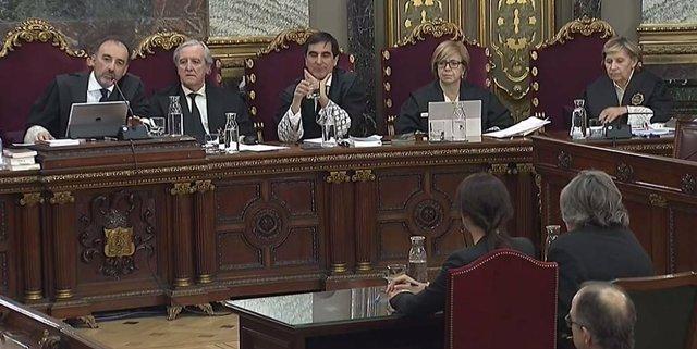 El juez Marchena y los magistrados en el juicio al procés en el Supremo