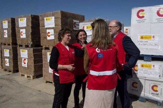 España despliega por primera vez el hospital de campaña START, que atenderá a ví