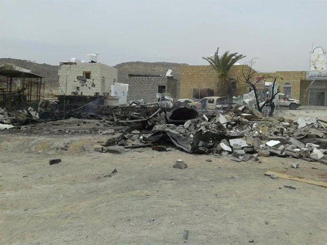 Yemen.-Mueren siete personas, entre ellas cuatro niños, en un bombardeo contra u