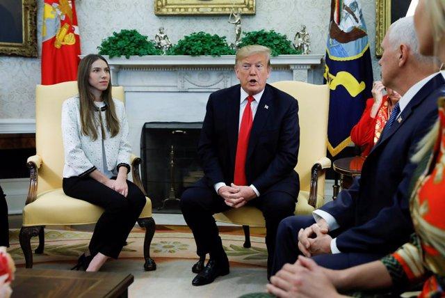 """La mujer de Guaidó alerta en una reunión con Trump sobre """"posibles atentados"""" co"""