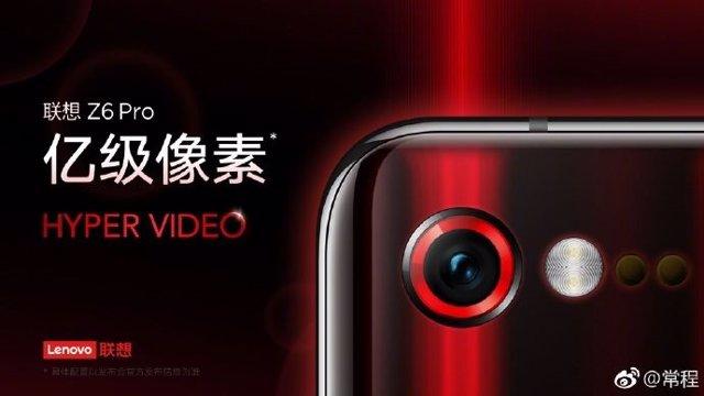 El 'smartphone' Lenovo Z6 Pro tomará fotografías de 100 megapíxeles