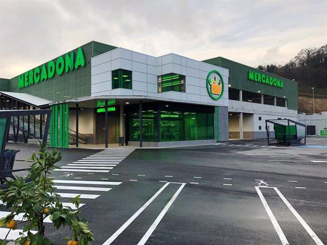Supermercado de Mercadona en Elgoibar.