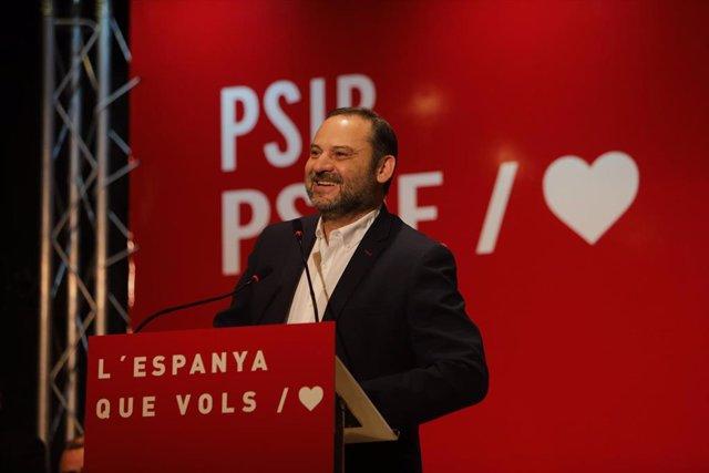 José Luis Ábalos en un acto con los socialistas de Baleares
