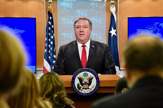 Mike Pompeo press conference in Washington