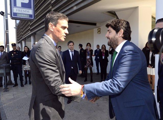 López Miras y Pedro Sánchez a las puertas de la FREMM