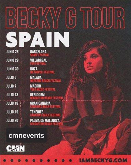 Becky G anuncia las fechas de su gira veraniega por España