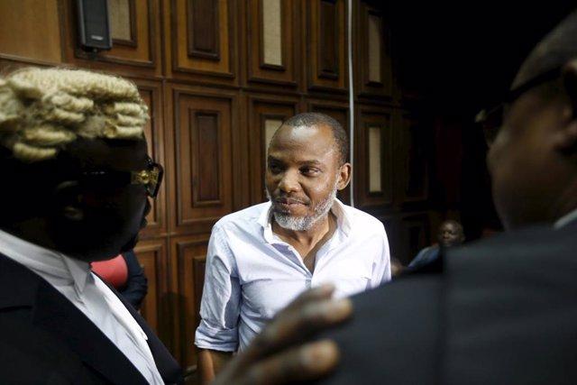 El líder del Pueblo Indígena de Biafra (IPOB), Nnamdi Kanu.