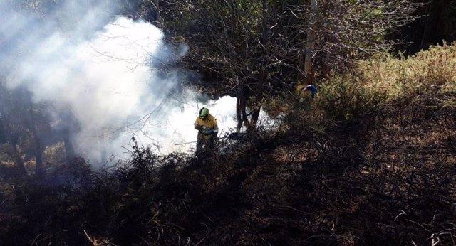Cuatro incendios activos en Cantabria de los diez provocados desde ayer