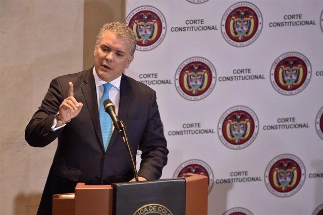 Colombia.- Duque rechaza varios artículos de una ley clave para la implementació