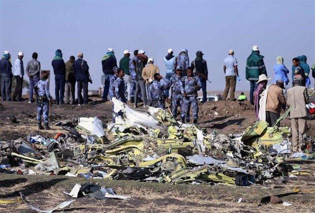 Economía/Transportes.- El informe preliminar d el accidente de Ethiopian Airline