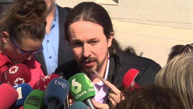 Pablo Iglesias se persona en la Audiencia Nacional como perjudicado en el caso V
