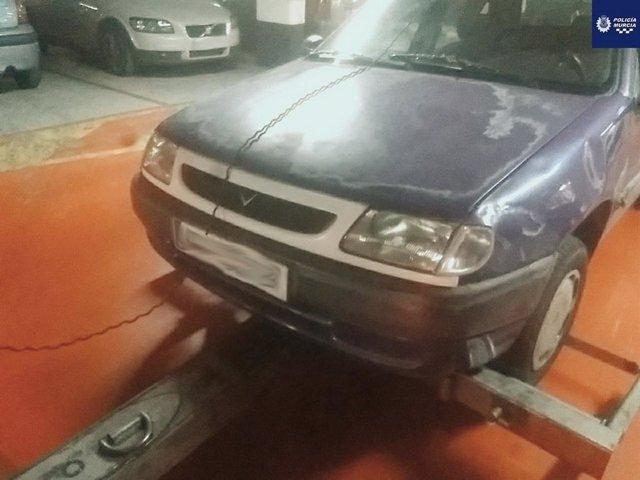 Sucesos.- Detenidos dos individuos en Murcia tras una peligrosa huida en coche y