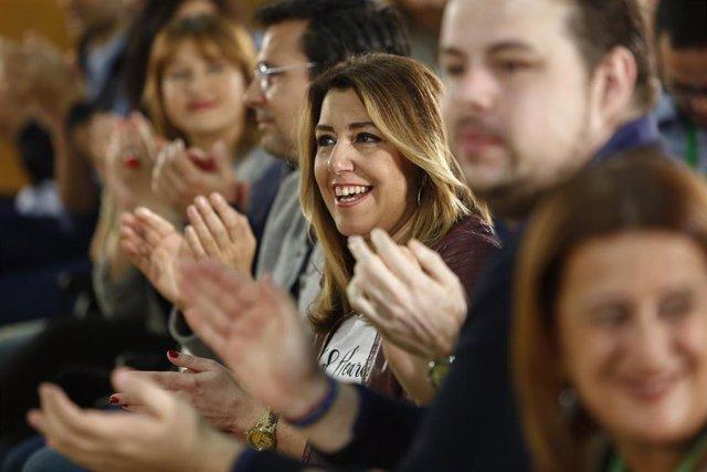 """28A.- Susana Díaz recalca que el PSOE de Andalucía """"es y seguirá siendo el tronc"""