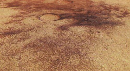 Las huellas de los diablos de polvo en la superficie de Marte