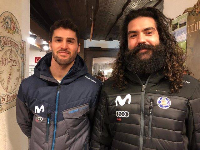 Lucas Eguibar y Regino Hernández, en la Copa del Mundo de SBX en Feldberg