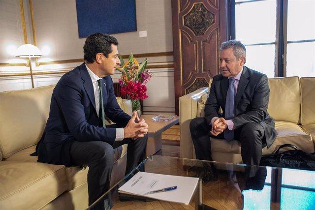 """Moreno transmite a Airbus su """"firme"""" compromiso para """"seguir potenciando"""" el sec"""