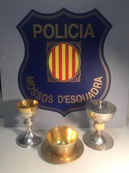 Sucesos.- Detienen a un ladrón por robar en una parroquia de Granollers (Barcelo