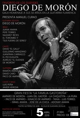 [Sevilla] Np Homenaje En Alcalá A 50 Años Trayectoria Guitarrista Flamenco Diego
