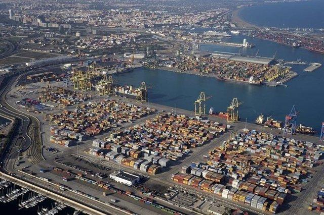 El tráfico de contenedores de Valenciaport crece un 13,3% al cierre de febero ha