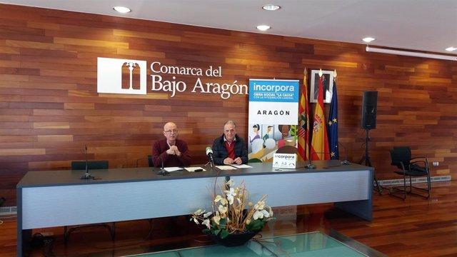 La comarca del Bajo Aragón renueva su compromiso con el programa Incorpora de la
