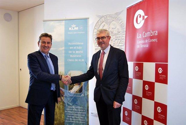 La Cámara de Terrassa y Air France-KLM firman un convenio para la promoción inte