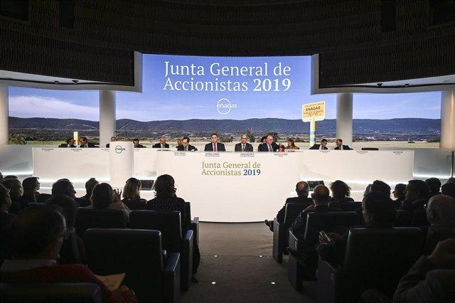 Economía/Motor.- La junta de Enagás aprueba el reparto de un dividendo de 1,53 c