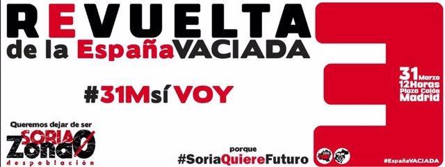 Revuelta de la España Vaciada anima a asistir a la manifestación en Madrid para