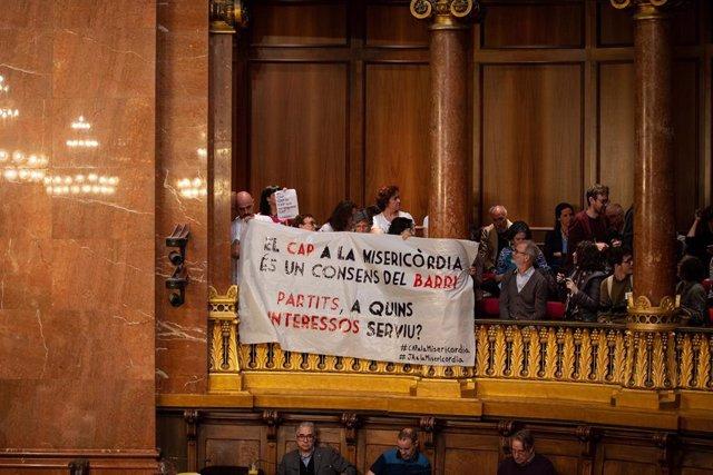 Pleno en el Ayuntamiento de Barcelona