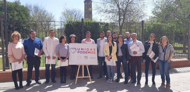 """Sevilla.- 28A.- Unidas Podemos defiende su candidatura como """"voz potente"""" contra"""