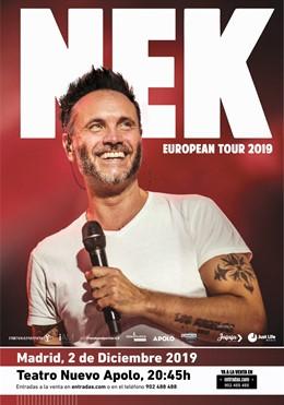 NEK anuncia concierto en Madrid