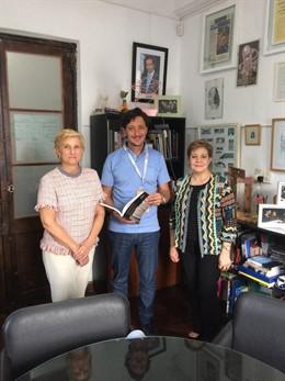 González Menorca mantiene una reunión en Argentina con el secretario de Cultura
