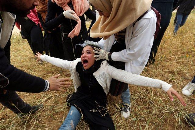O.Próximo.- Al menos 33 palestinos heridos por disparos israelíes al principio d