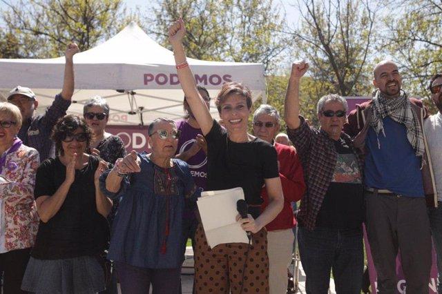 """Isa Serra arropa la candidatura de Gema Gil en Leganés, """"uno de los municipios m"""