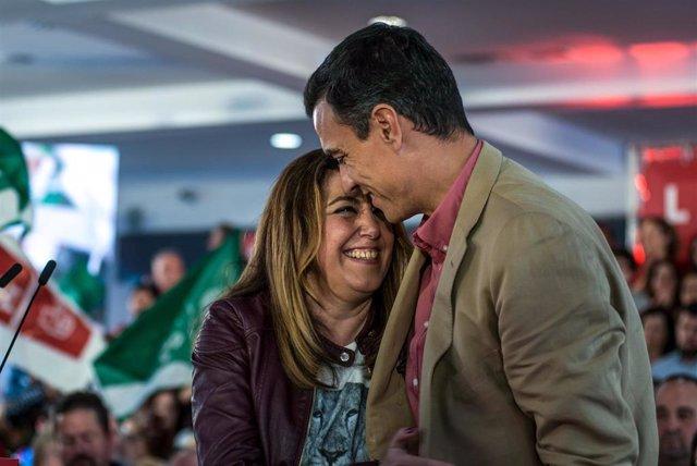 """28A.- Susana Díaz Pide A Pedro Sánchez No Relajarse Con Las Encuestas Porque """"Aq"""