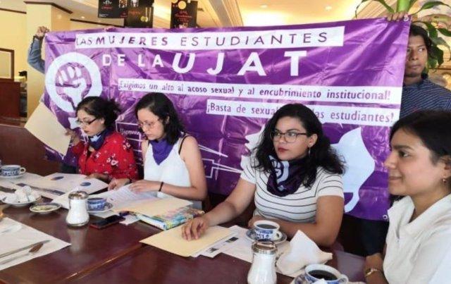 Universitarias de Tabasco denuncian acoso sexual en la institución y el rector a