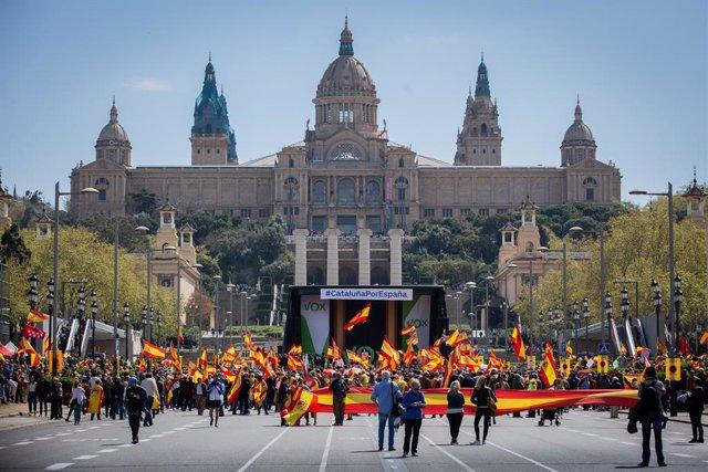 Acte de Vox 'L'Espanya visqui' amb el president del partit, Santiago Abascal, i