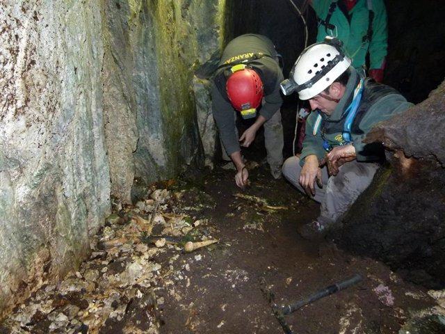 Exhumados los restos de dos posibles presos de la fuga de Ezkaba en la sima de A