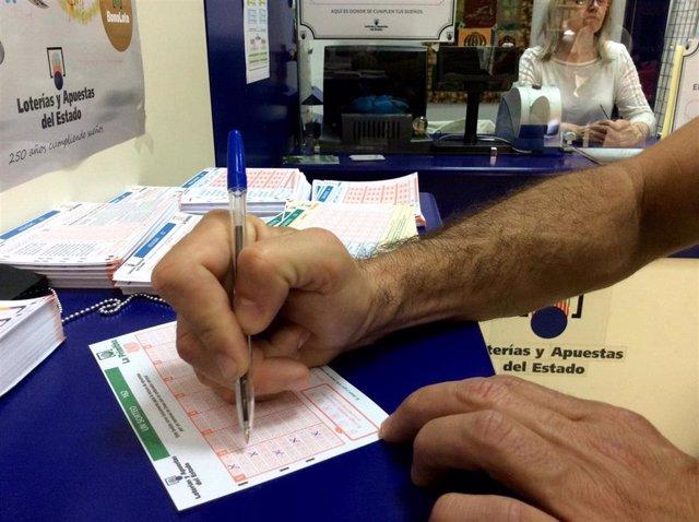 Jaén.- Un boleto sellado en Úbeda, premiado con casi 120.000 euros en el sorteo