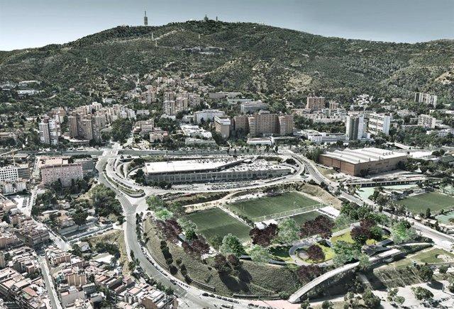 Comencen les obres de reforma de l'rea verda La Campa a la Vall d'Hebron de Bar
