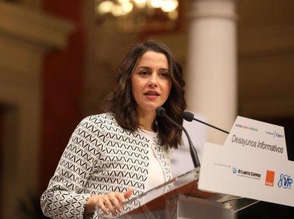 Inés Arrimadas participará este lunes en un acto en la plaza del Mercado de Logroño