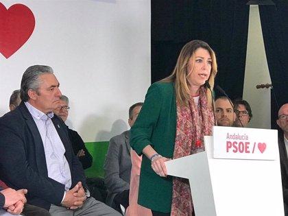 """Susana Díaz insta a poner el 28A """"un dique"""" a la derecha """"más cruel y egoísta de los últimos 40 años"""""""