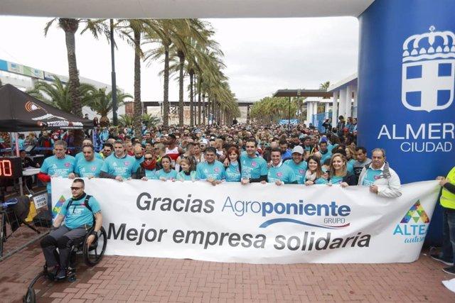 SaboresAlmería.- Más de 2.000 participantes en la I Carrera Azul de la asociació