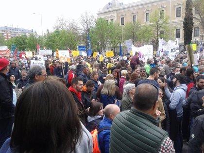 """Seis plataformas jiennenses se manifiestan en Madrid contra el """"olvido de las administraciones"""""""