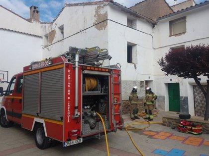Muere al caerse en su domicilio donde se había iniciado un incendio, en San Martín del Moncayo