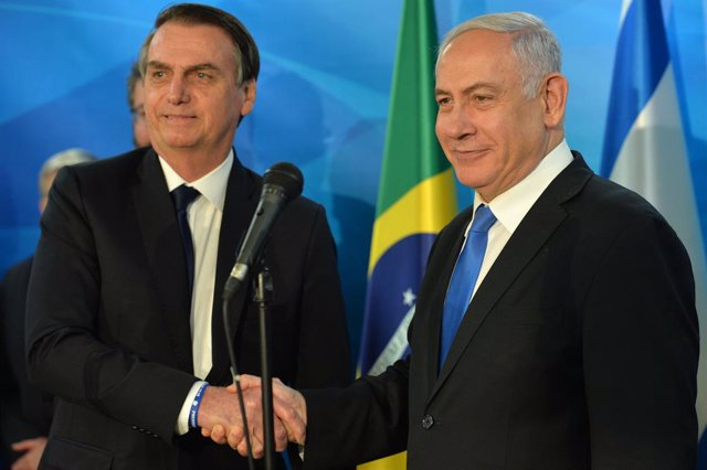 Brazilian President Jair Bolsonaro in Jerusalem