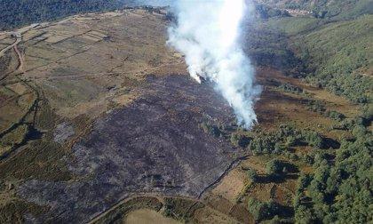 Activos cuatro incendios forestales en Rionansa, San Roque de Riomiera, Selaya y Campoo de Yuso