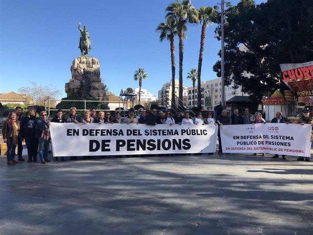 Concentración de pensionistas en Mallorca