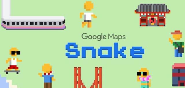 La 'app' de Google Maps permite jugar al videojuego de la serpiente